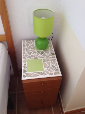 Decorated nightstand top